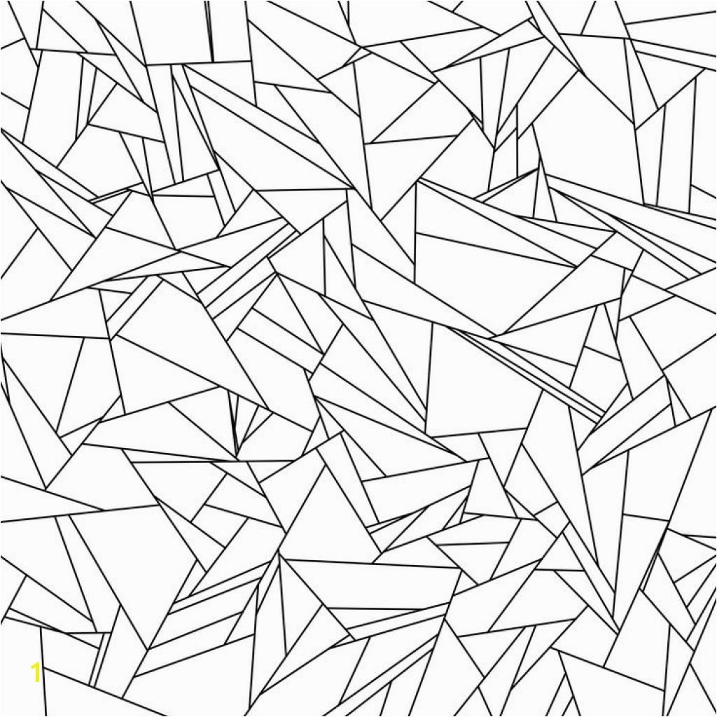 Broken Glass Tessellation Coloring Page Free Printable For Adults