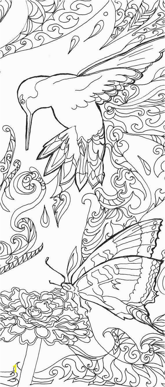 Printable coloring pages Adult Coloring book Hummingbird Colibri Art Hand Drawn…