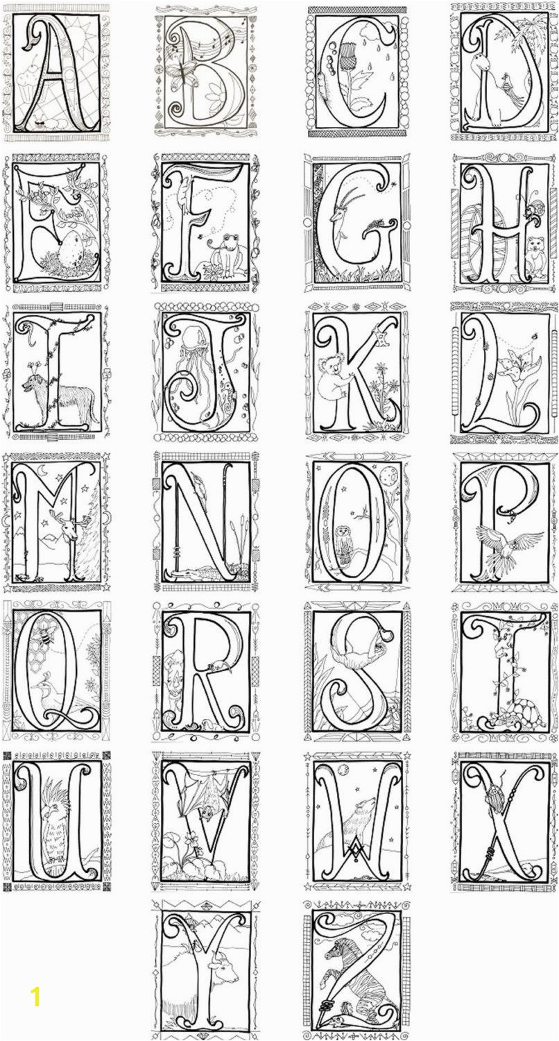 Launching Me val Illuminated Letters Coloring Pages Alphabet Poster 8 00 Via Etsy Lettering