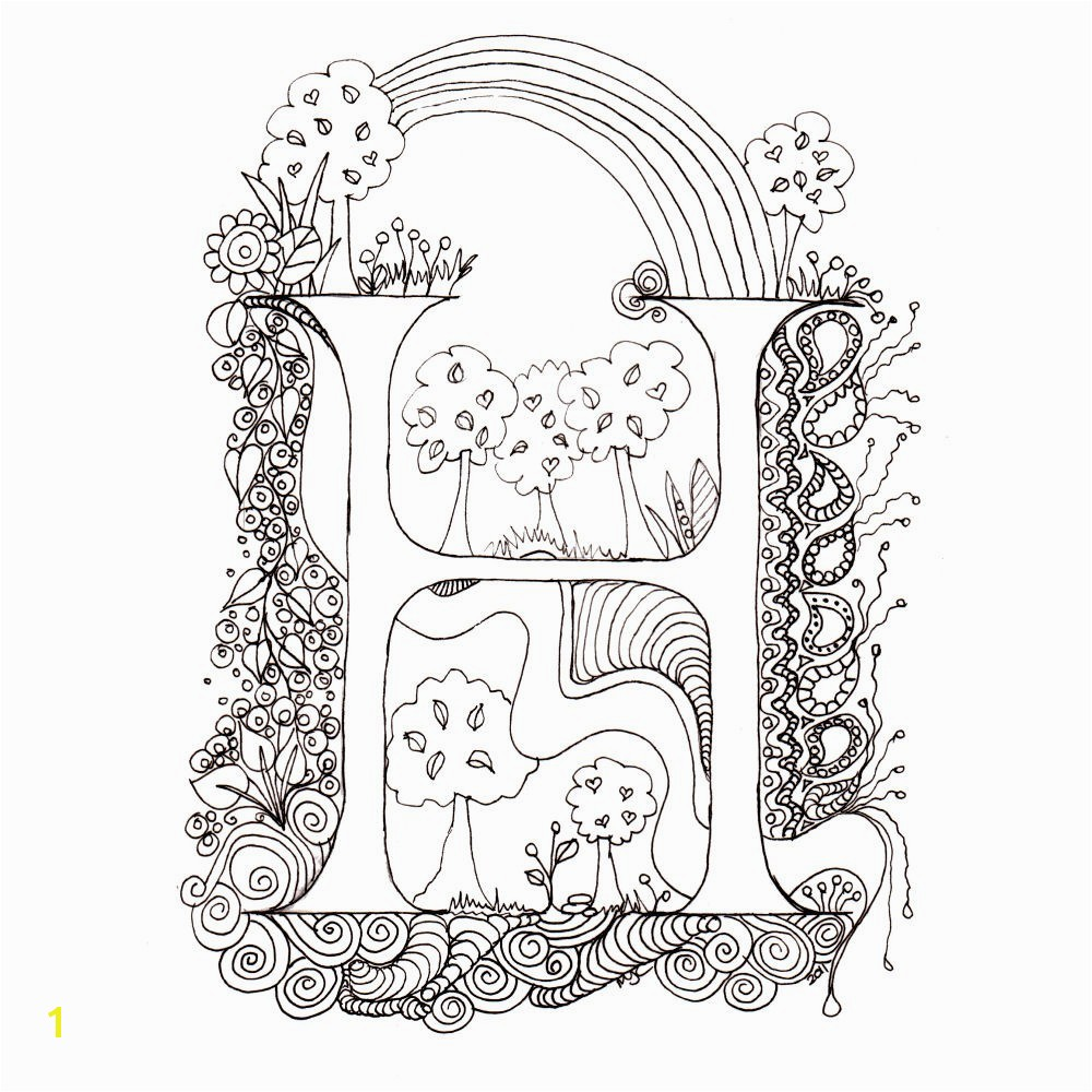 Outstanding Me val Illuminated Letters Coloring Pages Cool Alphabet