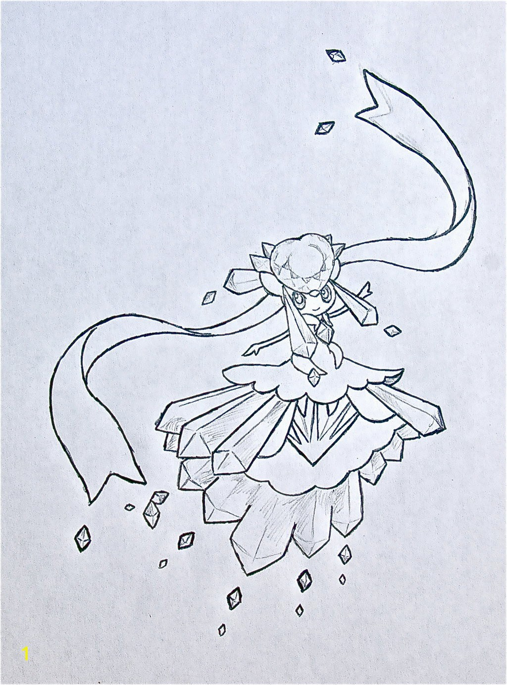 Mega Diancie Coloring Pages Unique Mega Diancie by Xxd17 Deviantart