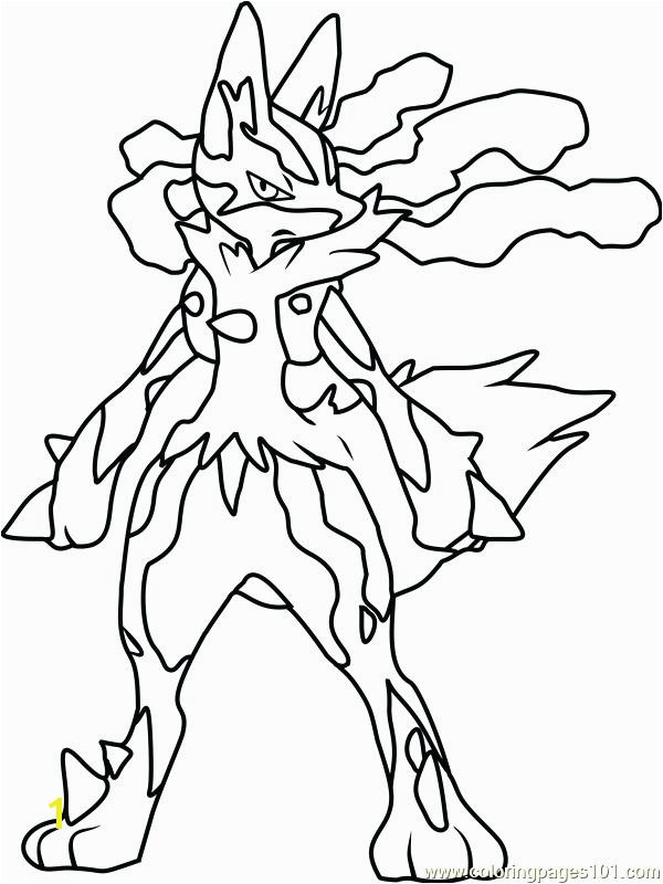 Mega Lucario Coloring Page Pokemon Coloring Pages Lucario Coloring Pages Free Pokemon Coloring