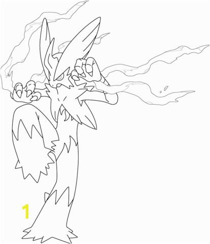 Mega Blaziken Pokemon coloring page