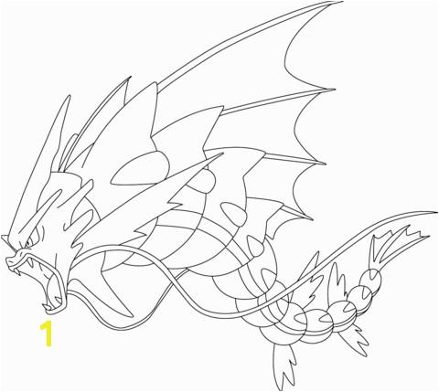 Mega Pokemon Coloring Pages Printable Mega Gyarados Pokemon Coloring Page