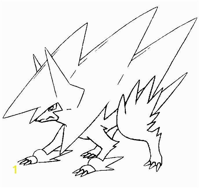 mega pokemon printable coloring pages