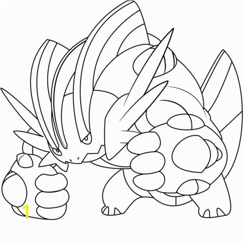 Mega Swampert Pokemon coloring page