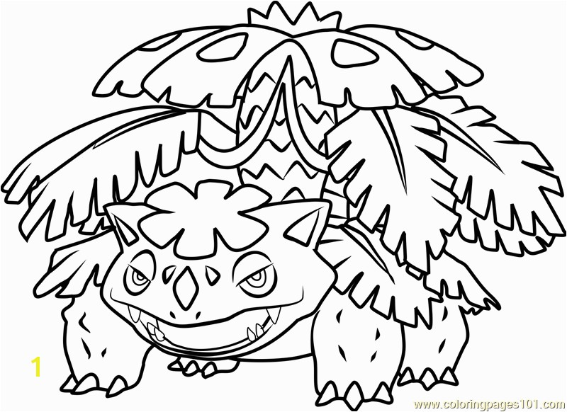 Mega Venusaur Pokemon Coloring Page