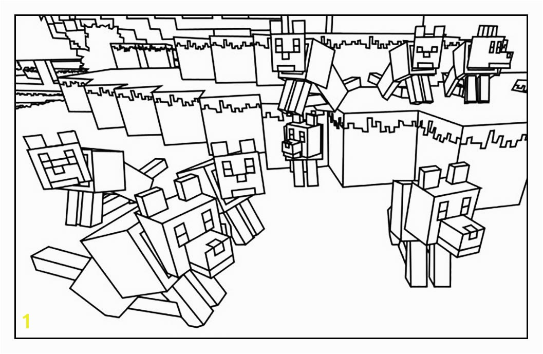 Free Minecraft coloring page to