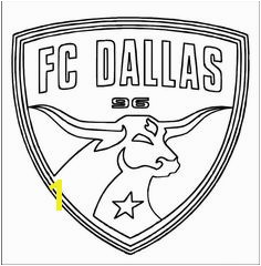 FC Dallas MLS Logo Coloring Sheet