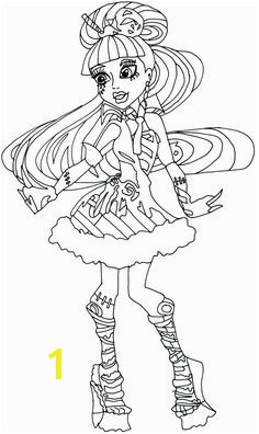 Monster High Robecca Steam Wear Shoes Cool Coloring Page Monster High Coloring Page Pinterest