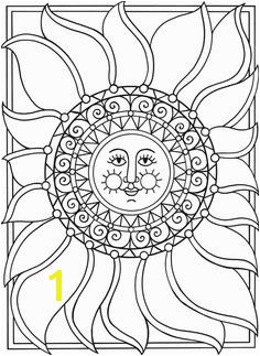 Dover Spark Sun Moon & Stars Coloring Page