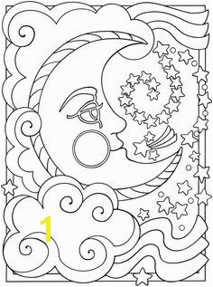 Moon and Stars Coloring Pages Printable 161 Best Sun Moon and Stars Coloring Images On Pinterest