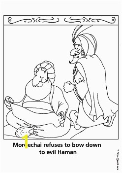 Mordecai and Haman Coloring Pages Coloring Page Purim Mordechai Refuses to Bow Down to the Evil