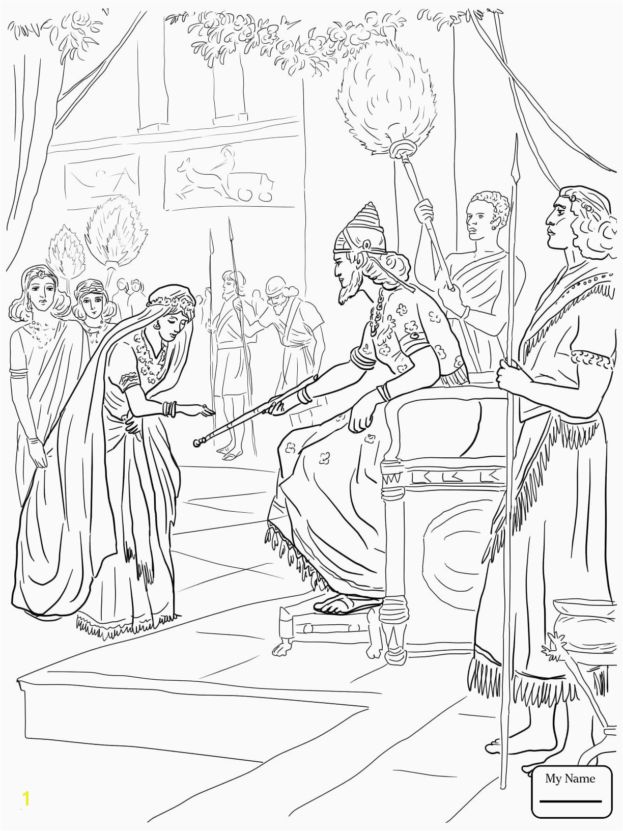 Mordecai and Haman Coloring Pages Queen Esther Coloring Pages Amazing Esther Coloring Pages Free