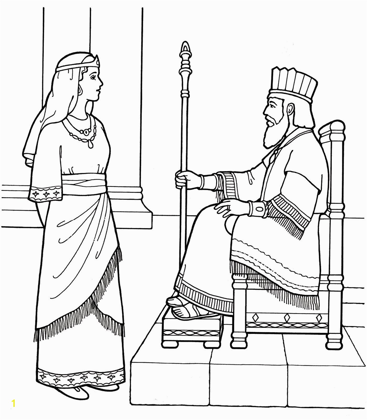 Mordecai and Haman Coloring Pages Queen Esther Coloring Pages Nice Queen Coloring Pages Valid An Lds