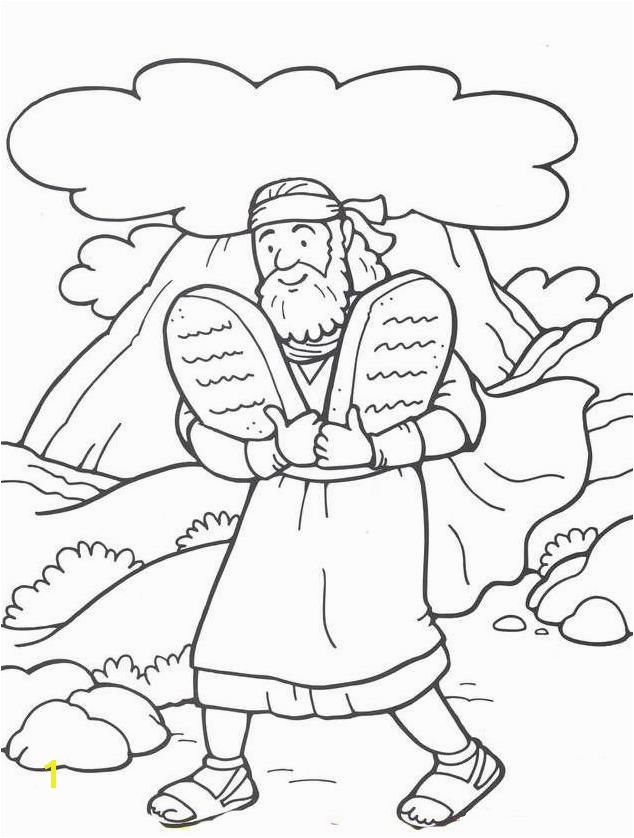 Moses 10 Commandments Coloring Page 48 Moses and the 10 Mandments Vbs Moses Pinterest