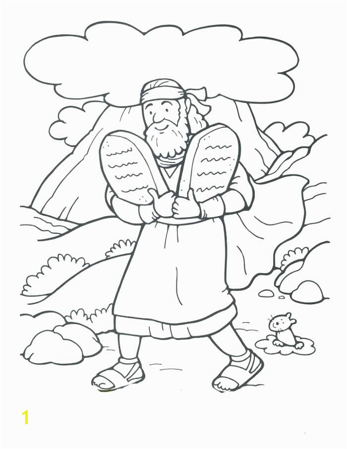 ten mandments coloring page color sheet bible pages sheets the ma