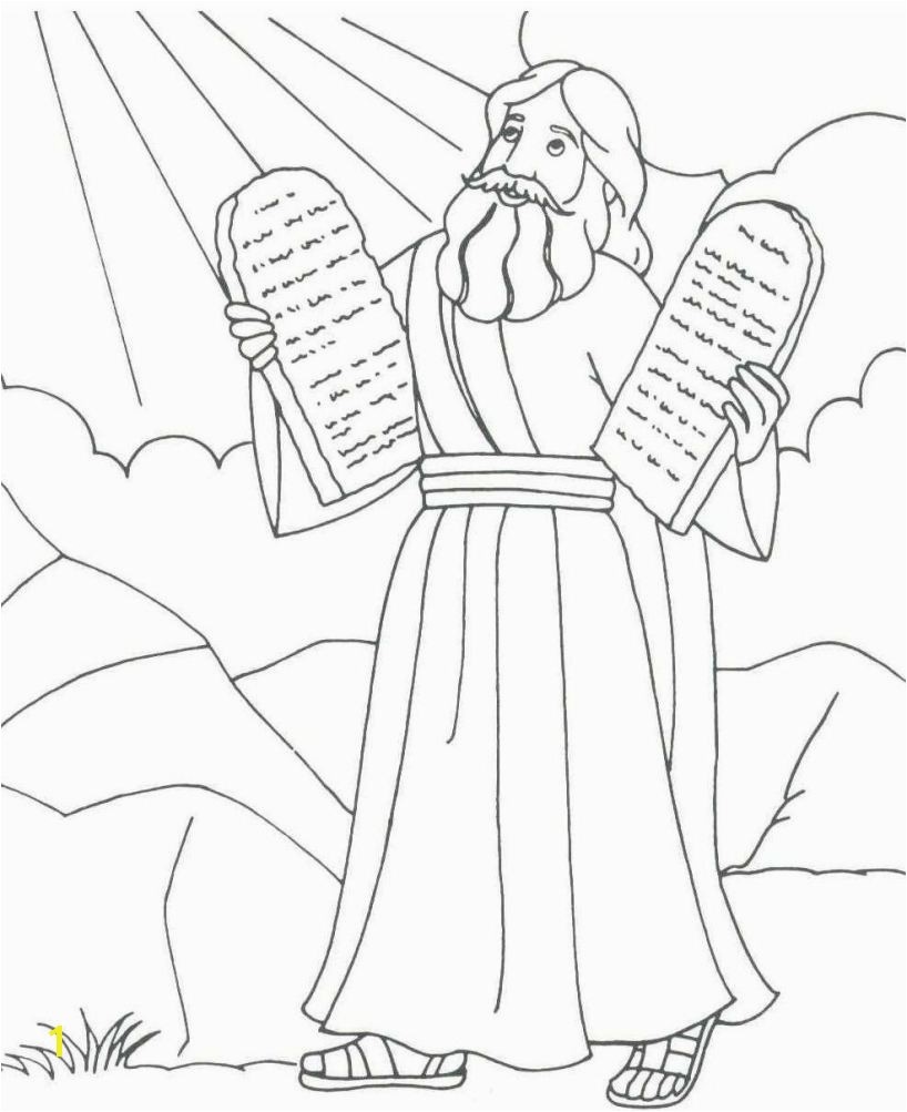ten mandment coloring sheets