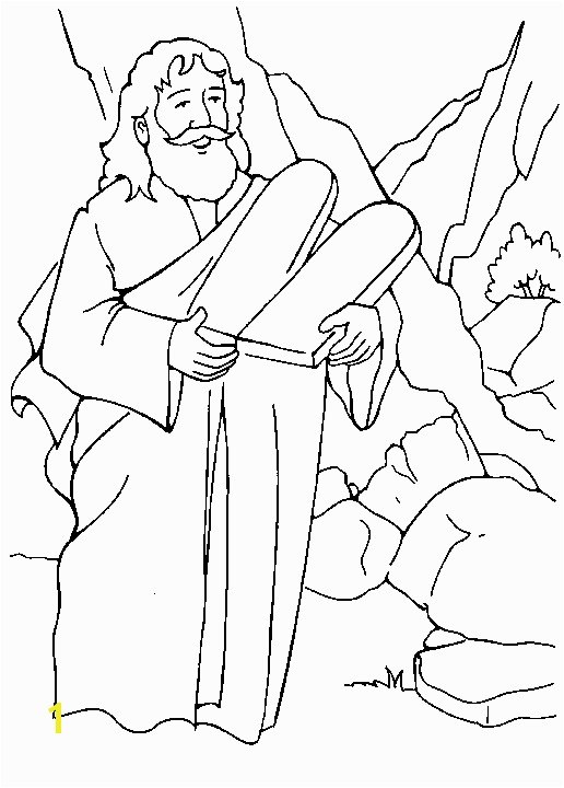 ten mandments coloring page