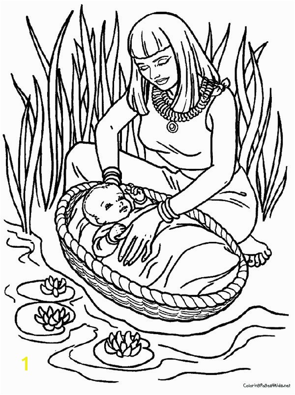 Moses Bible Coloring Pages Week 7 Bible Story Baby Moses Coloring Page
