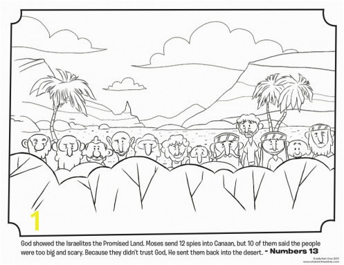 Moses In the Desert Coloring Pages Joshua and the Promised Land Coloring Page Beautiful Twelve Spies