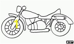 Classic road motorcycle coloring page