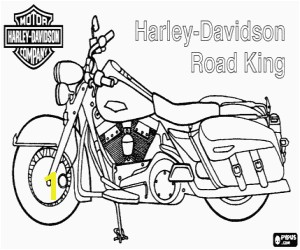 Harley Motorcycle Coloring Pages