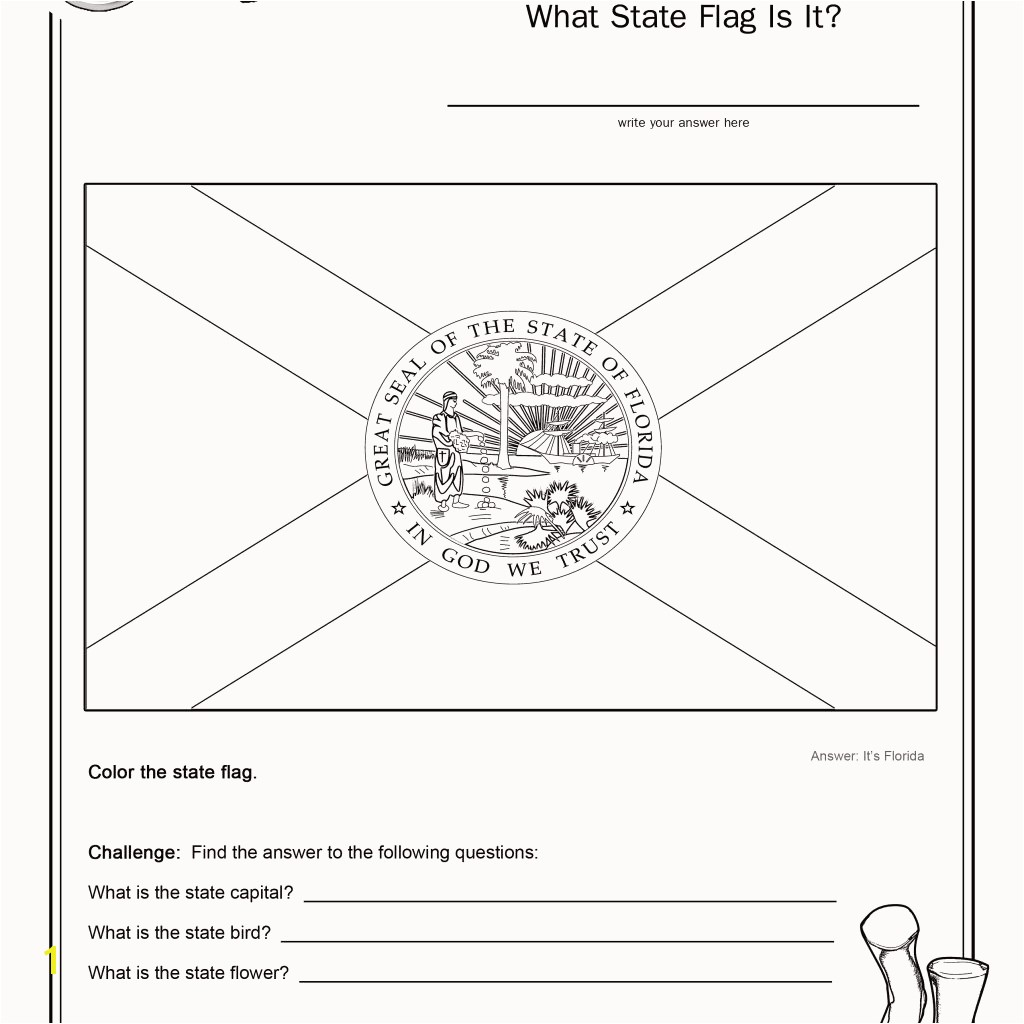 My Big Big Friend Coloring Pages Awesome Coloring Page State Flag Florida Printable Worksheet Surviving the