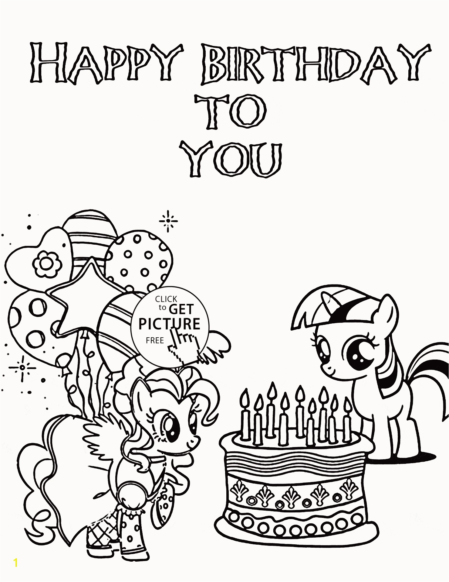 my little pony birthday coloring pages luxury cartoon fish outline of my little pony birthday coloring pages