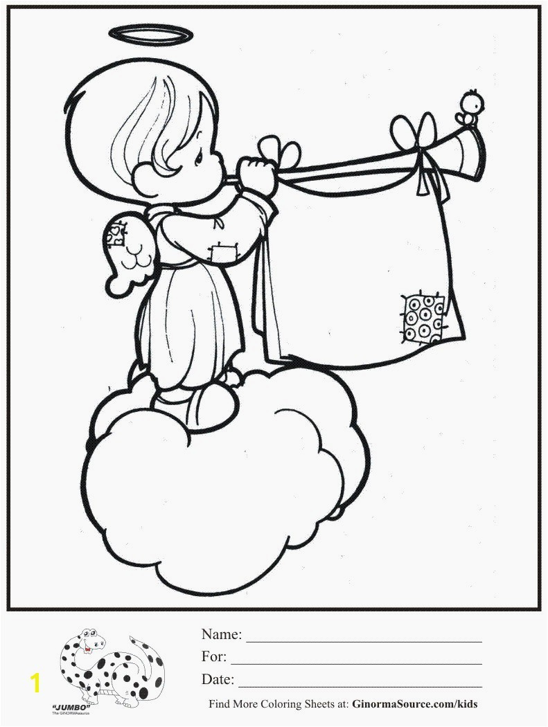 791x1050 kids coloring page angel cloud trumpet precious moments coloring