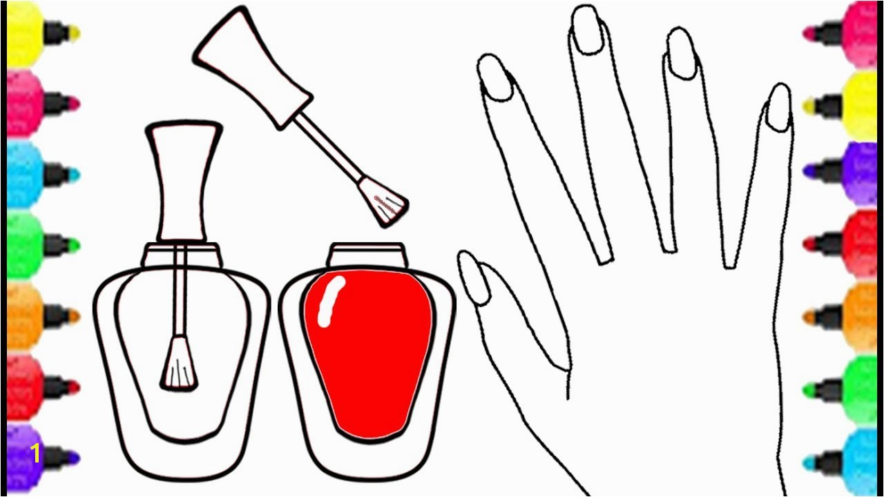 Fundamentals Nail Salon Coloring Pages Art For Girls Polish Colorful