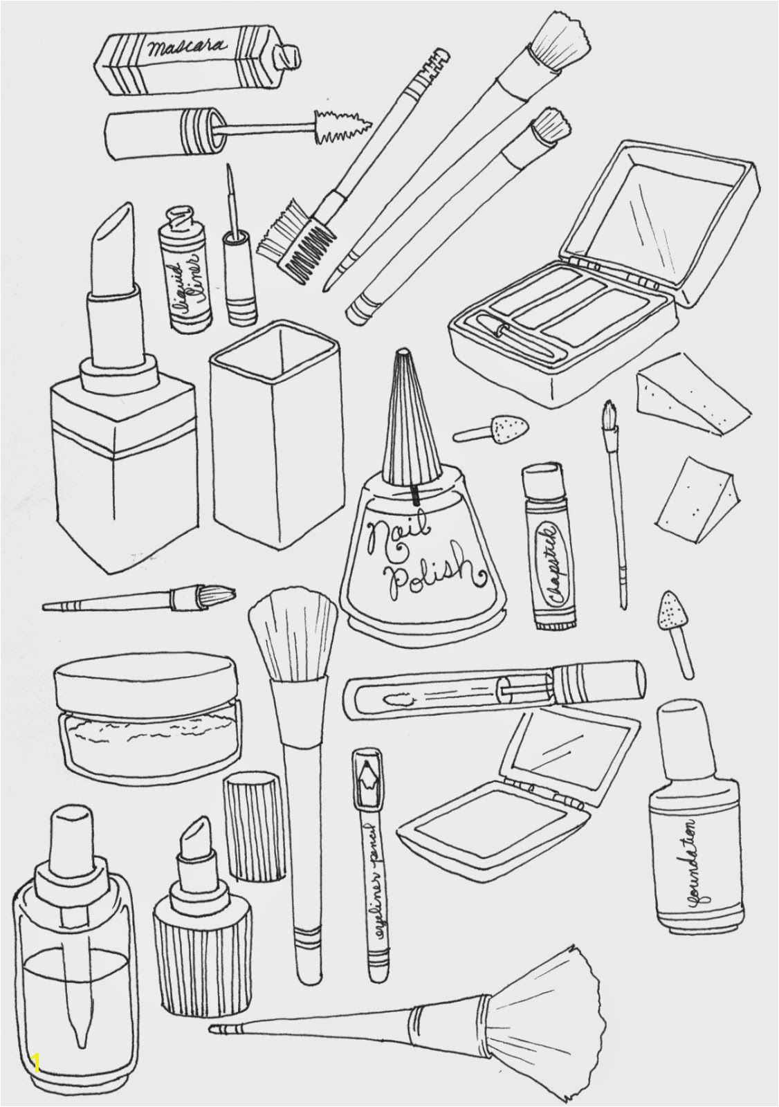 makeup coloring page