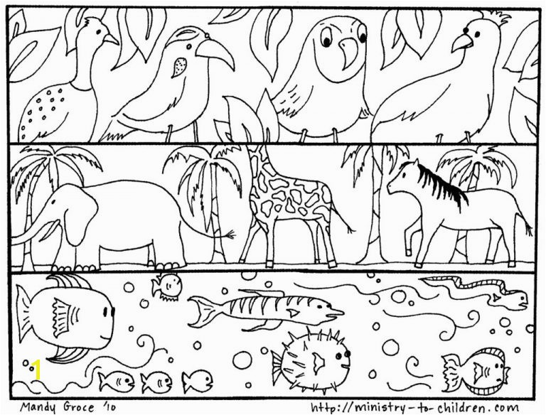 National Geographic Coloring Pages Coloring Page God Created Animals Best Creation Pages Made the