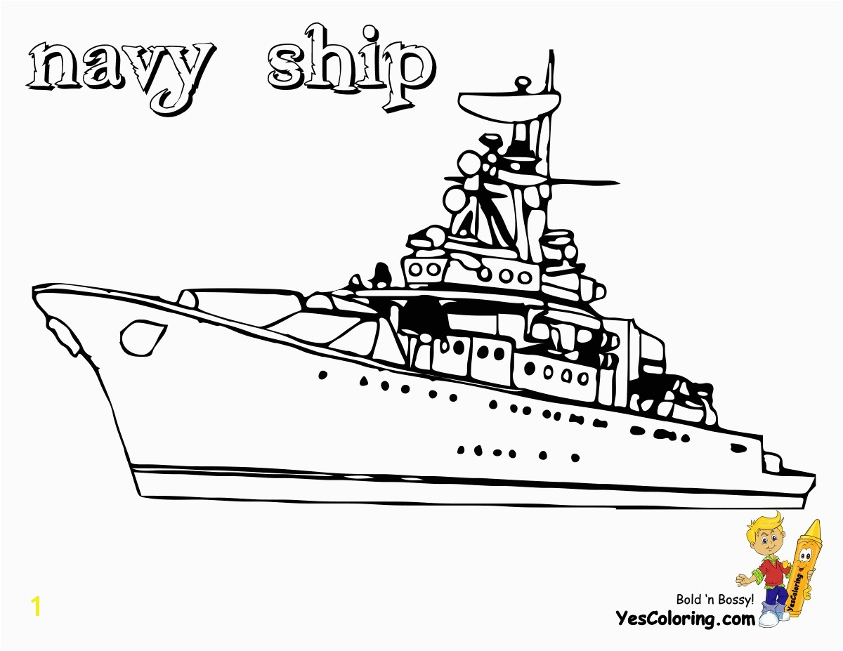 Awesome navy coloring pages for kids 7