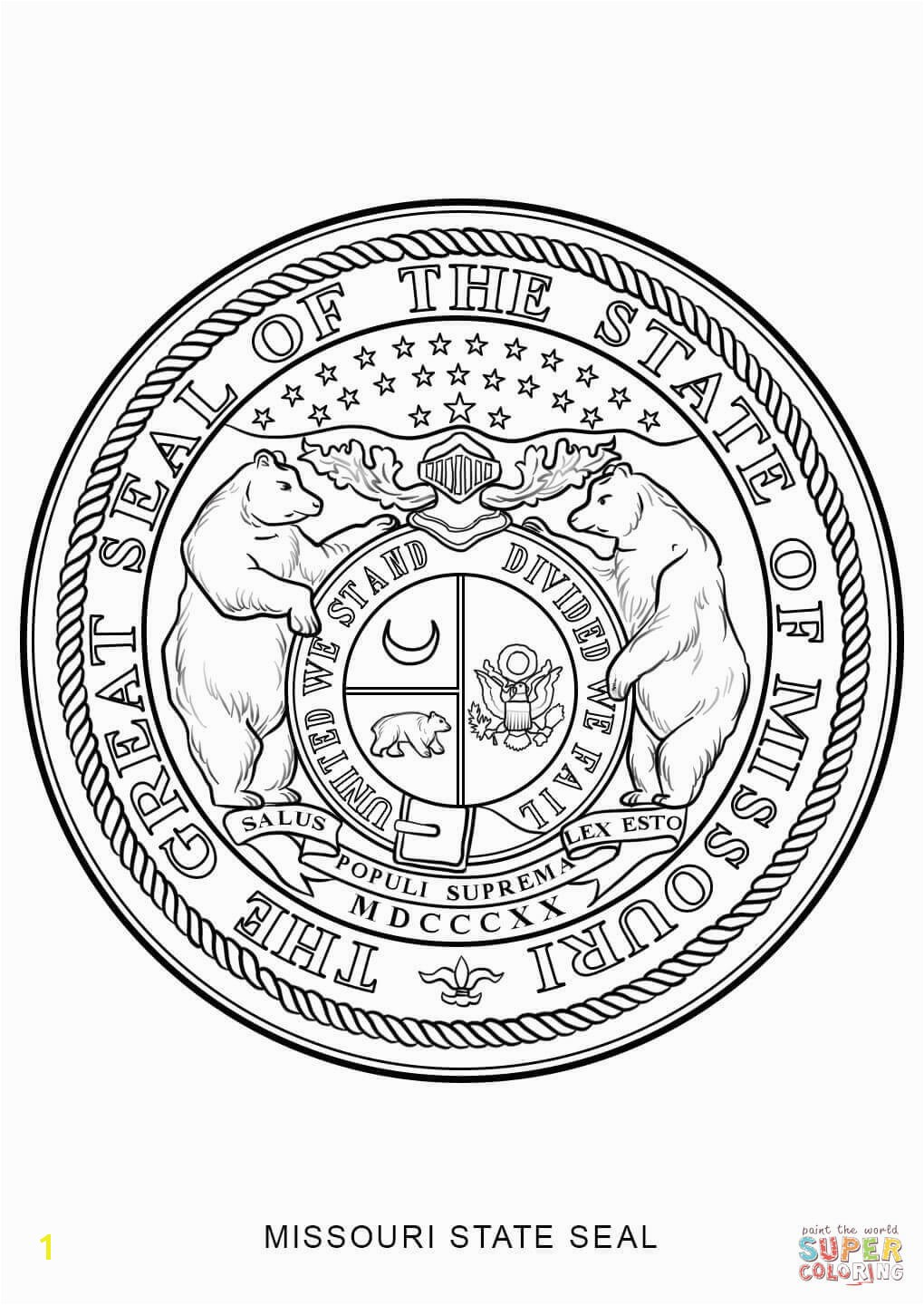 missouri state flag coloring page costumepartyrun missouri flag coloring sheet gulfmik e630c44