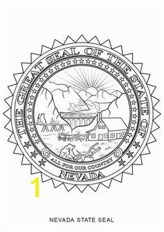 Nevada State Seal Coloring page Nevada History Pinterest