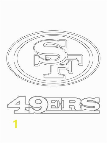 San Francisco 49ers Logo coloring page from NFL category Select from printable crafts of cartoons nature animals Bible and many more