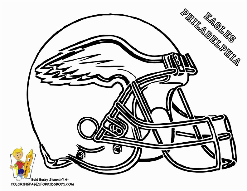 Nfl Jersey Coloring Pages Eagle Football Coloring Pages Football Helmet Coloring Page 01