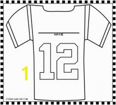 Nfl Jersey Coloring Pages Football Coloring Pages & Sheets for Kids
