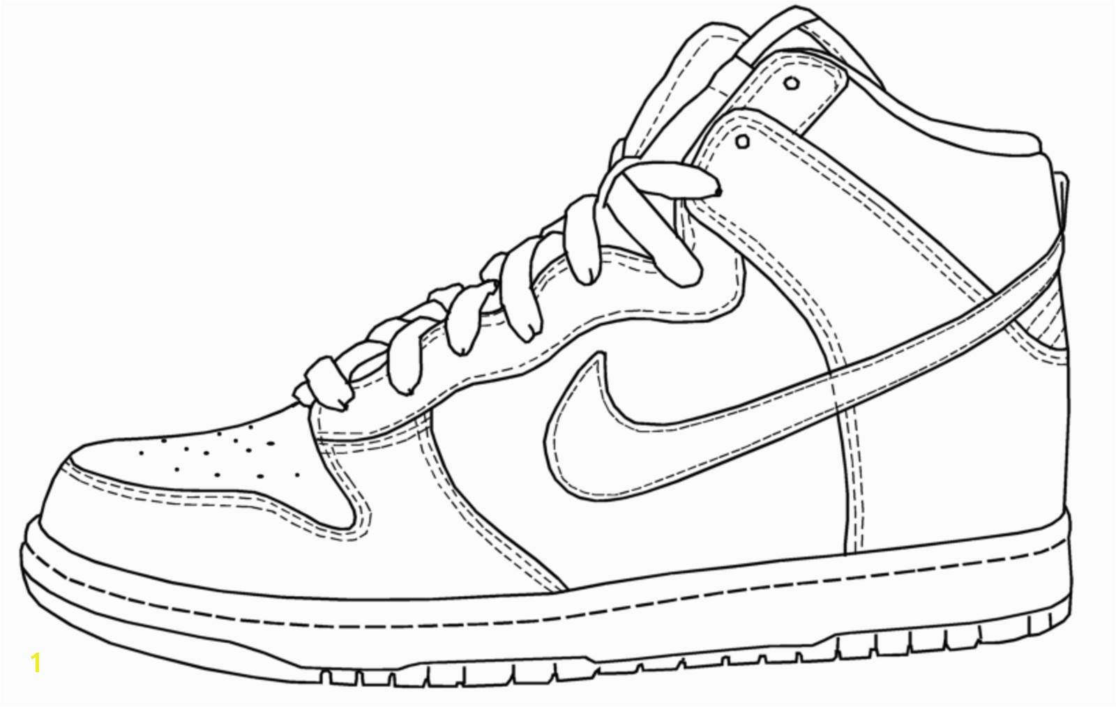 Lovely Nike Shoes Coloring Pages More Image Ideas