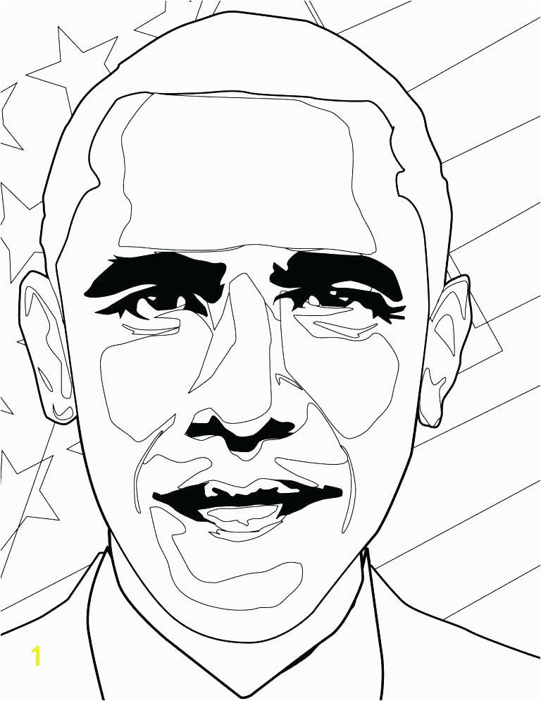 Barack Obama Family Coloring Pages Sheet Printable U S President Page Download Free She