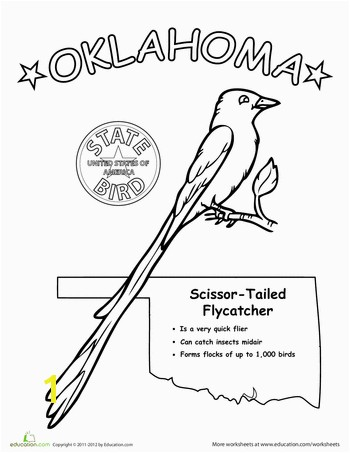 Worksheets Oklahoma State Bird