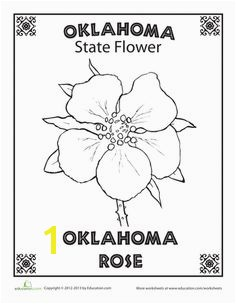 Worksheets Oklahoma State Flower