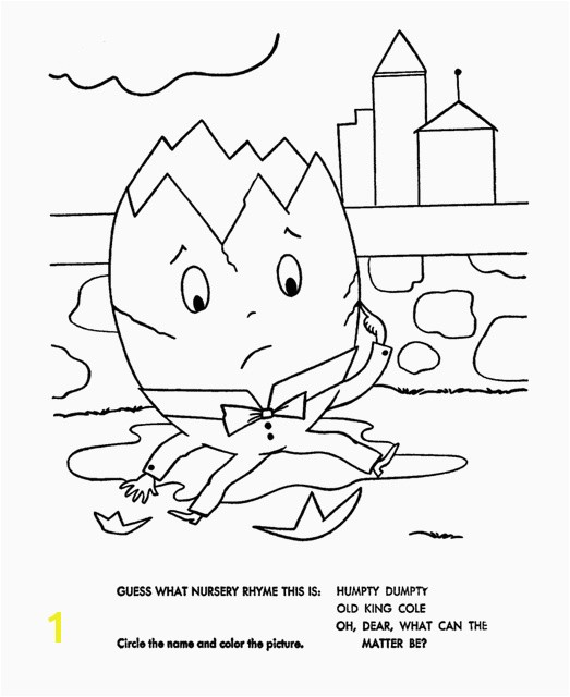 Humpty Dumpty Colouring Sheets