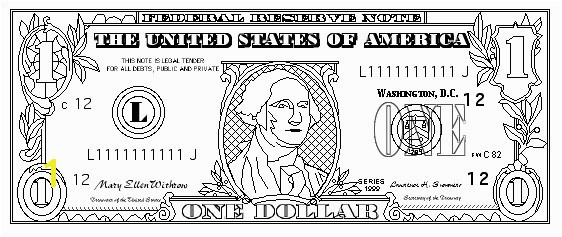 Dollar Bill Coloring Page Printable Elegant $100 Bill Coloring Page 139 Best 100th Day School