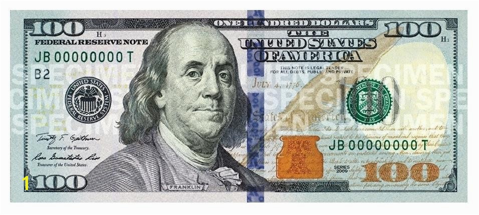 100 Dollar Bill Coloring Page New Hundred Dollar Bill For United