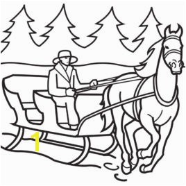 Horse Drawn Sleigh Coloring Page Coloring Pages Now