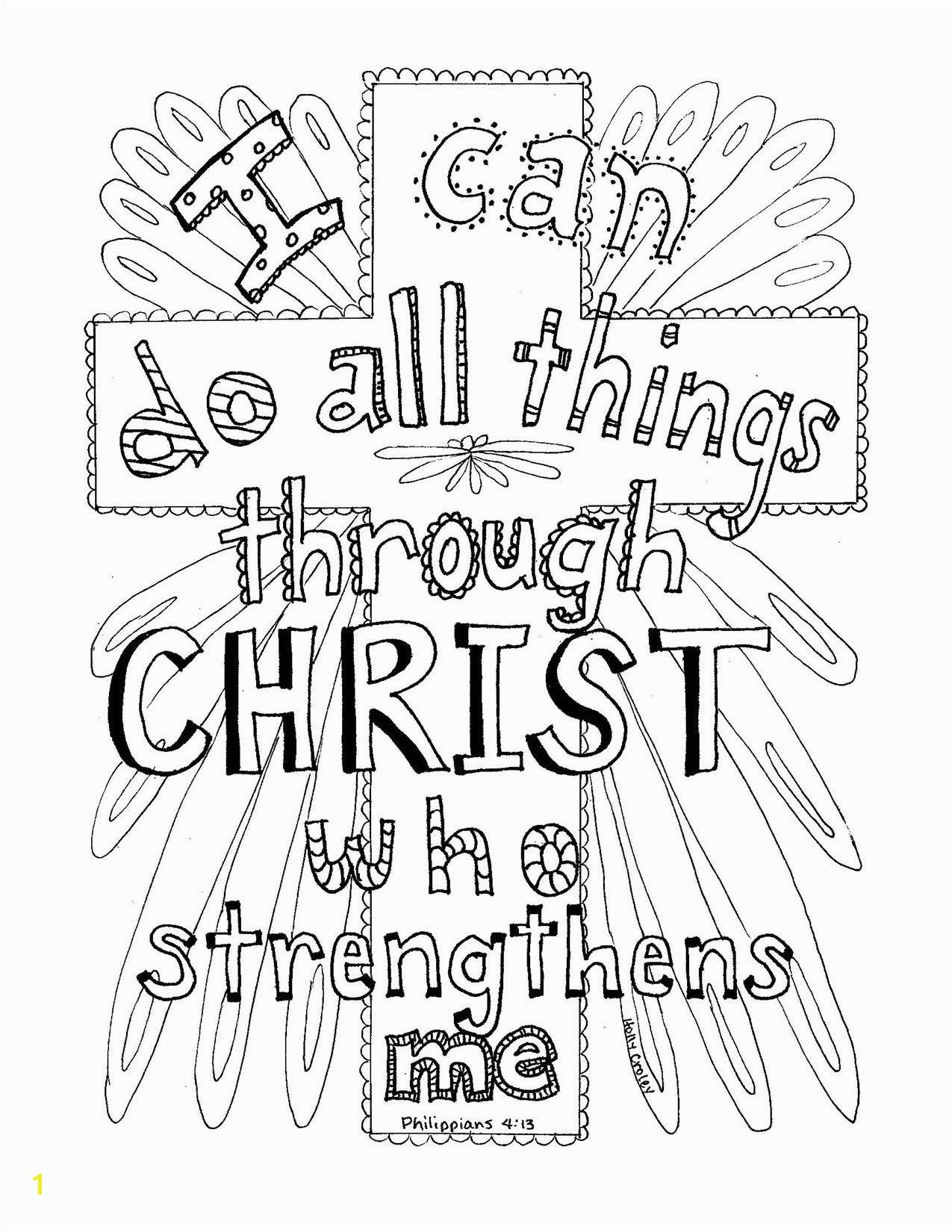 Philippians 4 13 Scripture coloring page