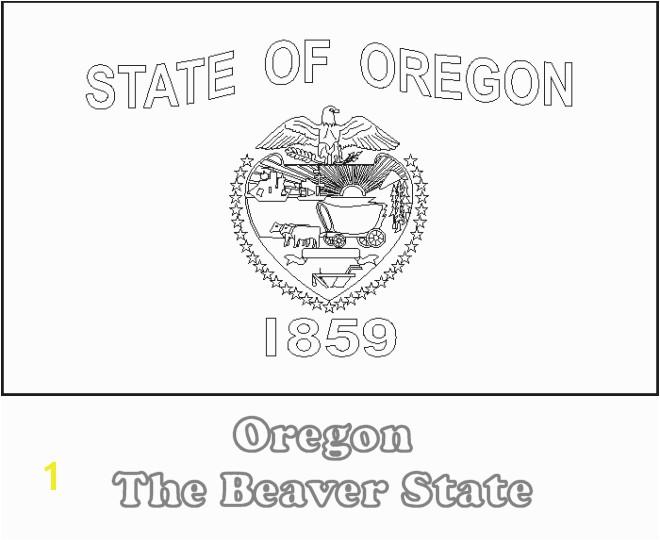 Oregon State Flag Printable
