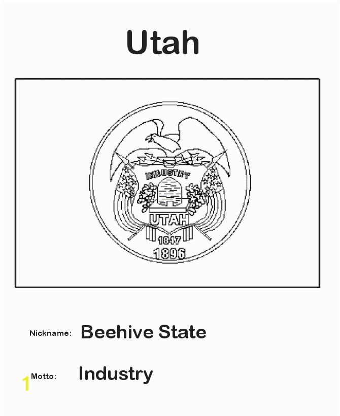 Utah State Flag Coloring Page